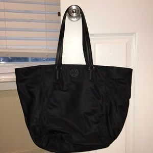 Tory Burch Tilda Tote Large Nylon Black Authentic